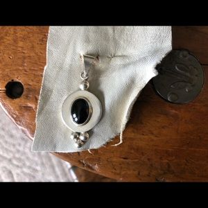 Jewelry - Solid sterling and black onyx pendant